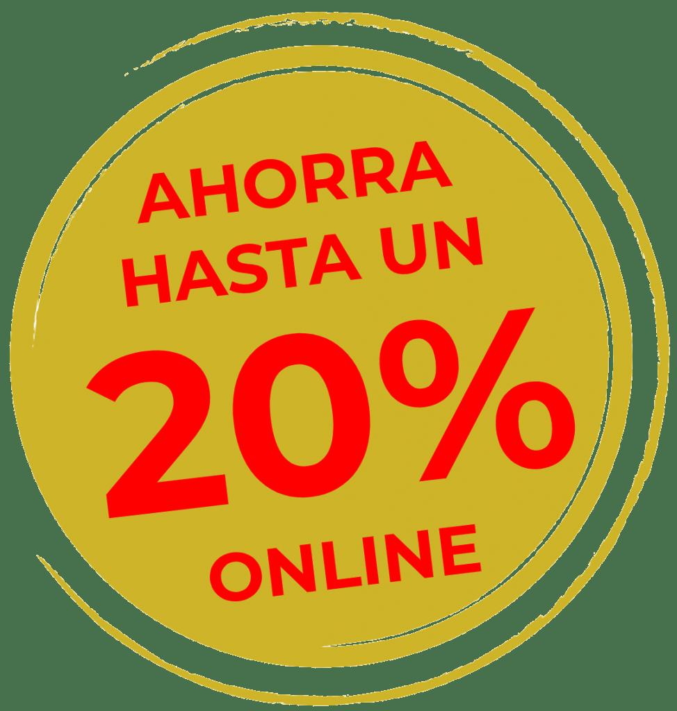 logo ahorra un 20% online
