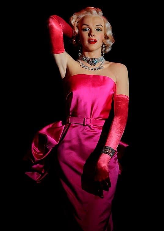 figura de cera de Marilyn Monroe Museo de Cera Madrid