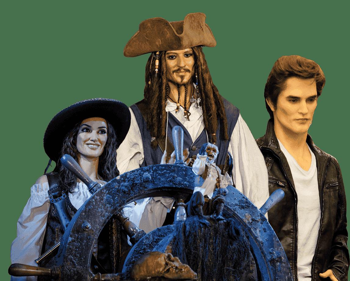 figuras de cera mundo fantastico en el museo de cera de madrid