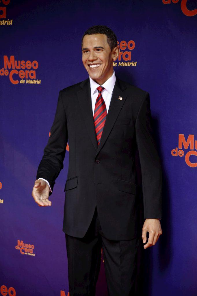 figura de cera de Obama