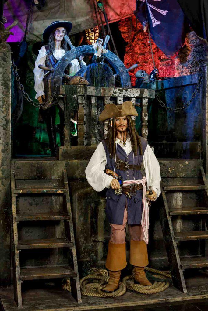 figura de cera piratas del Caribe