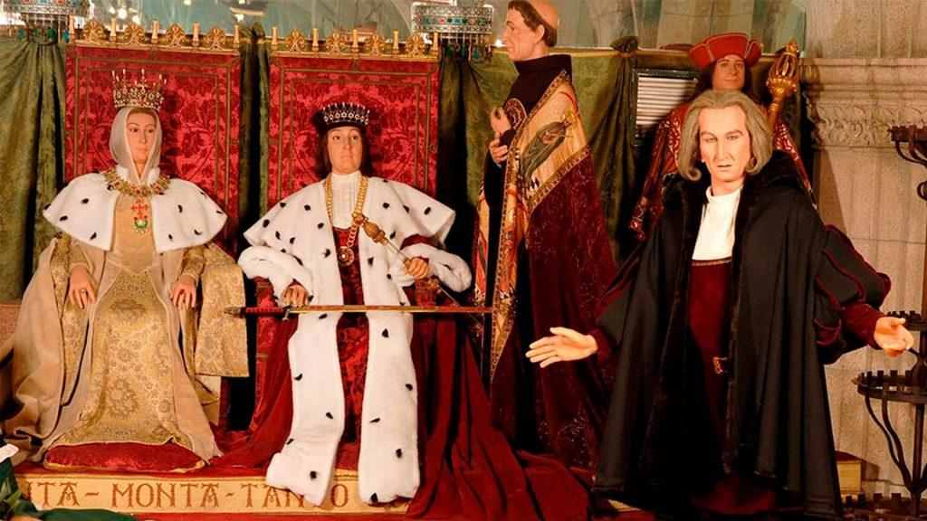 los reyes católicos en el museo de cera