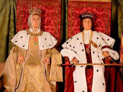 reyes católicos en cera